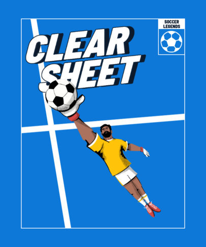 Soccer-Themed T-Shirt Design Template With a Cool Illustration 4128b