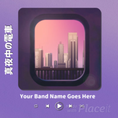 Instagram Post Video Maker for Musicians with an Animated Train Window View 3530b 3623