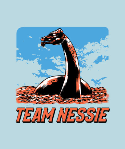 T-Shirt Design Creator with a Loch Ness Monster Graphic 3809f