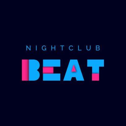 Nightclub Logo Maker Featuring a Minimal Aesthetic 4446h