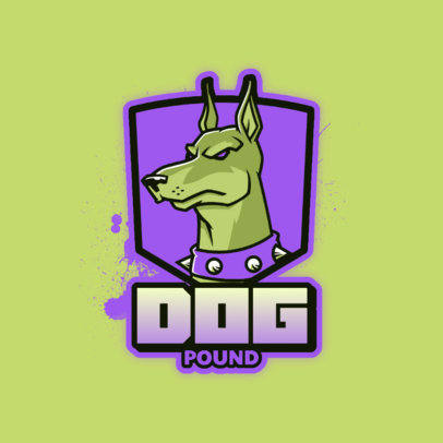 Gaming Logo Generator Featuring an Angry Doberman Graphic 4230h 4448