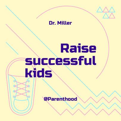 Podcast Cover Design Maker for a Child Development Themed Episode 4363i