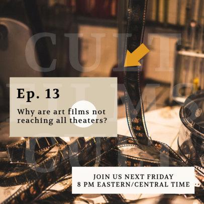 Film-Themed Instagram Post Generator Promoting a Podcast Episode 4121c-el1