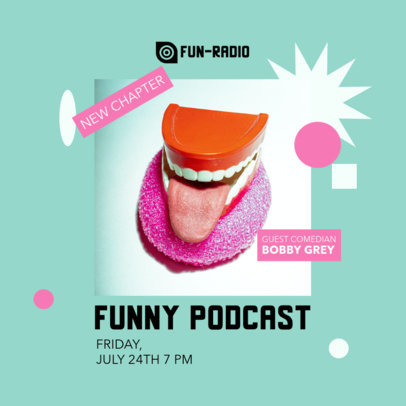 Instagram Post Maker to Announce a New Comedy Podcast 4123f-el1