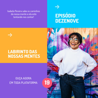 Instagram Post Generator for a Brazilian Psychology Podcast 4117d-el1