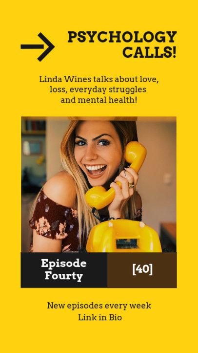 Instagram Story Maker to Promote a Psychology-Themed Podcast 4086a-el1