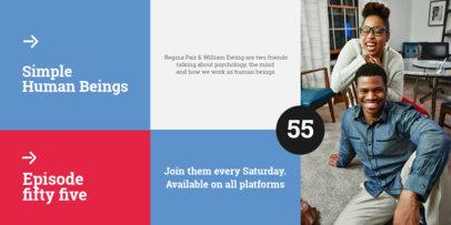 Twitter Post Design Generator to Promote a Psychology Podcast 4118e-el1