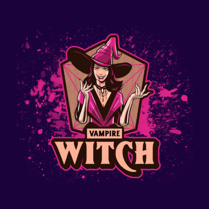 Gaming Logo Generator Featuring a Vampire Witch Illustration 4460h