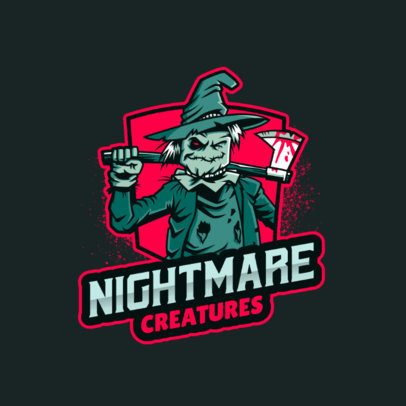 Resident Evil-Inspired Logo Creator With a Scarecrow Character 4464f