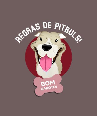 T-Shirt Design Generator Featuring a Joyful Pit Bull Terrier Illustration 4468k