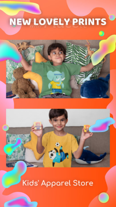 Instagram Story Video Creator to Promote a Kids Apparel Store 1388b 3633