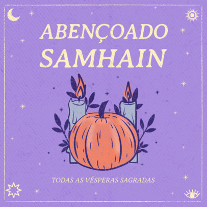 Pagan Holiday-Themed Instagram Post Maker with a Pumpkin Graphic 3836a
