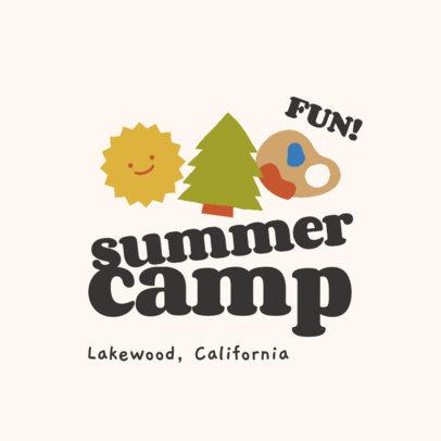 Fun Logo Maker for a Kids Summer Camp 4486