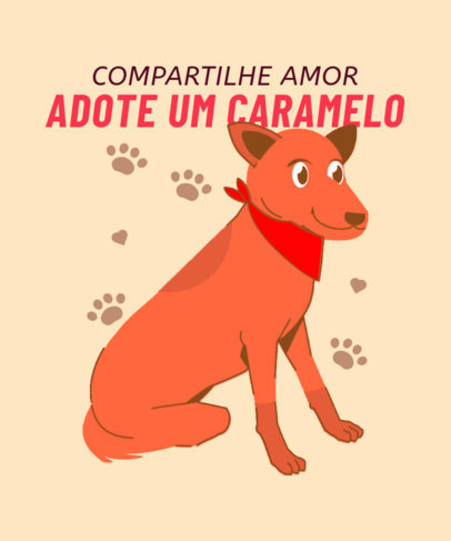 Dogs T-Shirt Design Maker With a Quote in Portuguese 3840b