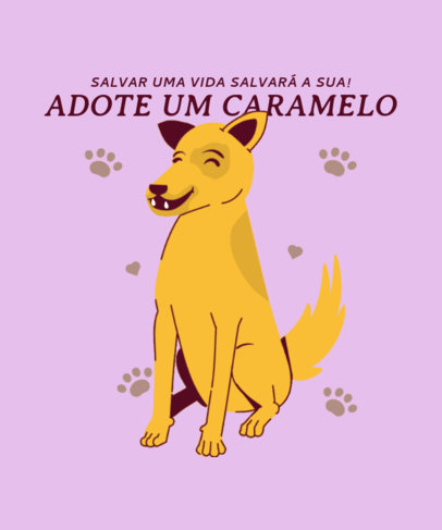 Illustrated T-Shirt Design Creator With a Vira-Lata Caramelo Dog Graphic 3840h