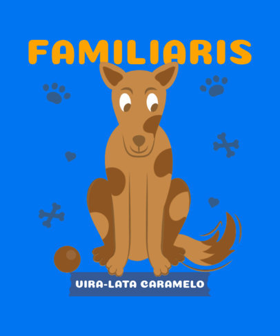 T-Shirt Design Maker With a Dogs Theme and a Portuguese Quote 3840c