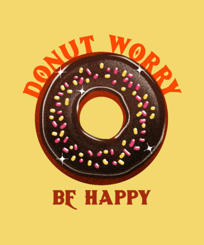 T-Shirt Design Generator for Junk Food Day Featuring a Donut Illustration 3850b