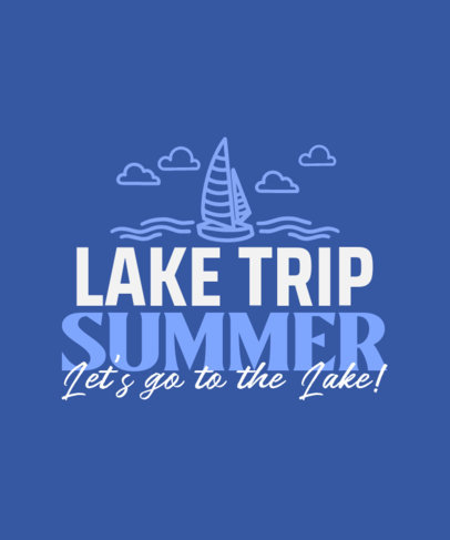 Quote T-Shirt Design Generator With a Summer Vacation Theme 3843a