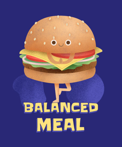 T-Shirt Design Maker for Junk Food Day with a Funny Burger Graphic 3848f