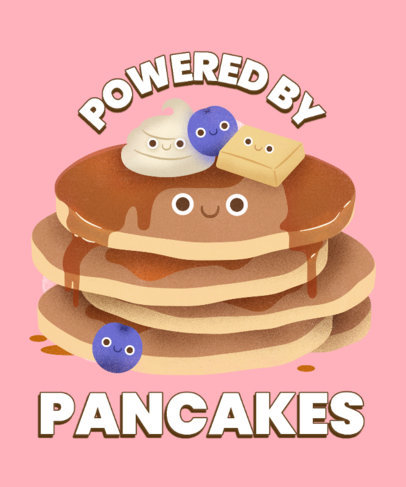 T-Shirt Design Creator with Illustrated Pancakes 3848h