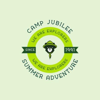Summer Camp Logo Generator Featuring an Explorer Bear Icon 4480E