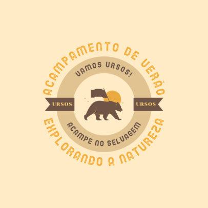Children's Summer Camp Logo Generator 4480H