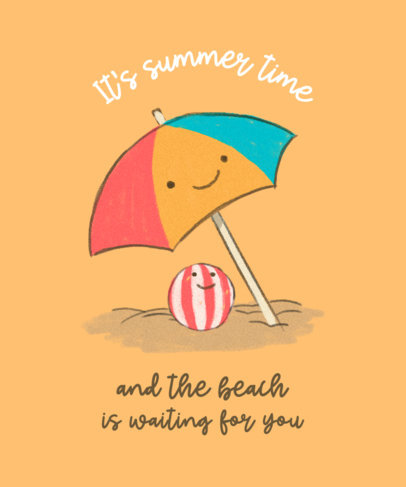 T-Shirt Design Generator Featuring a Quote and Summer-Themed Graphics 3845f