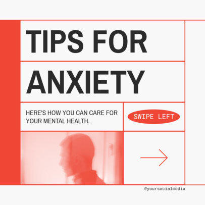 Instagram Post Maker for an Anxiety Tips Carousel 4144D-el1