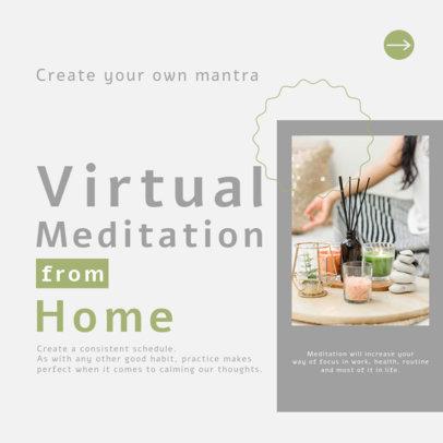Instagram Post Maker for a Meditation-Themed Carousel 4140f-el1