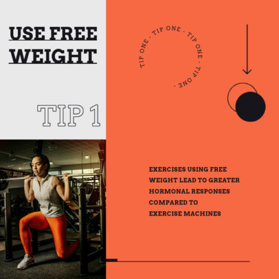 Instagram Post Maker to Share a Tip for Fitness Success 4149a-el1