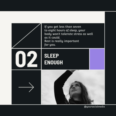 Instagram Post Template for Better Sleeping Tips 4146a-el1