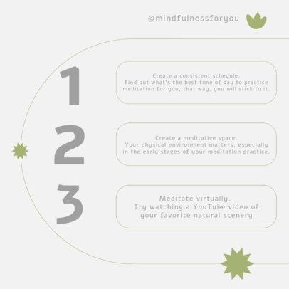 Instagram Post Maker for a Beginner's Guide to Meditation 4142f-el1