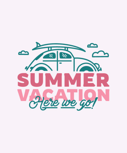 T-Shirt Design Generator for Summer Vacations Featuring a Car Clipart 3843i