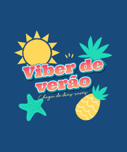 Quote T-Shirt Design Creator Featuring Summertime Graphics 3846i
