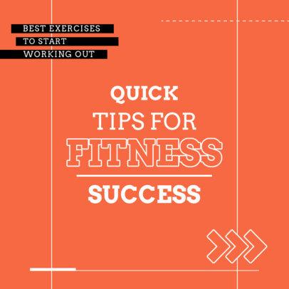 Instagram Post Maker for Tips on Fitness Success 4148a-el1