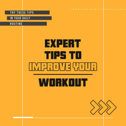 Instagram Post Maker with Expert Tips for Working Out 4148e-el1