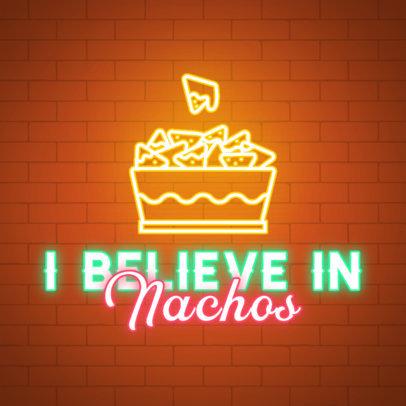 Nachos-Themed Instagram Post Creator for Junk Food Day 3851b