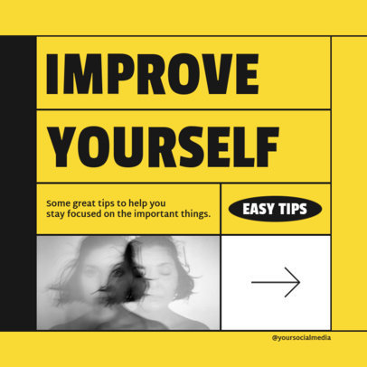 Instagram Post Generator Featuring Self Development Tips 4144E-el1