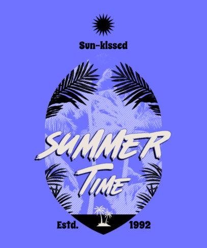 Summer T-Shirt Design Generator Featuring Tropical Plants Graphics 3844e