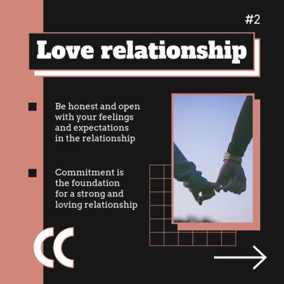 Instagram Post Design Maker for a  Relationships-Themed Carousel 4157e-el1