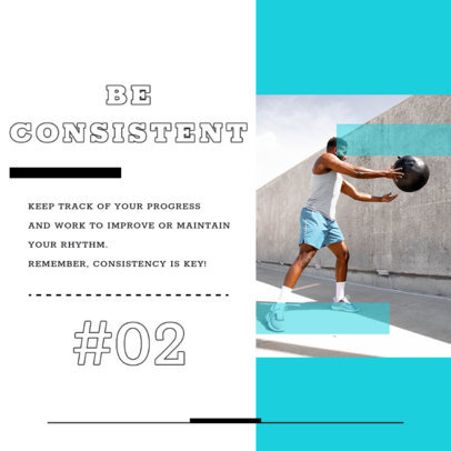 Instagram Post Template for a Fitness Tips-Themed Carrousel 4150d-el1