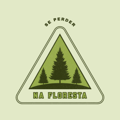 Simple Logo Creator Featuring a Camping Theme and Pine Tree Graphics 4482g