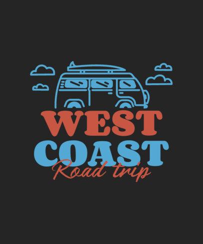 T-Shirt Design Maker Featuring a Road Trip Theme 3843d