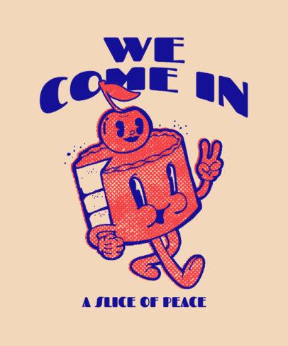 T-Shirt Design Creator Featuring a Junk Food Day-Themed Cartoon 3849h