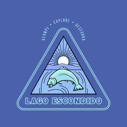 Logo Maker Featuring a Wild Salmon Graphic 4482l