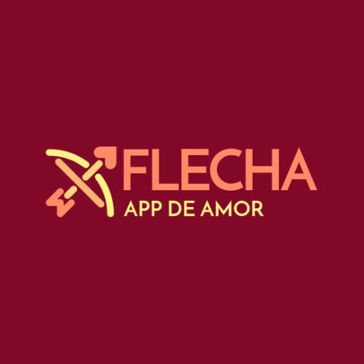 Logo Maker for a Dating App With Portuguese Text 4479a