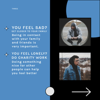 Carousel Instagram Post Design Template With Emotional Advice 4158a-el1