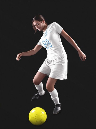 Custom Soccer Jerseys - Girl About to Hit the Ball a16520