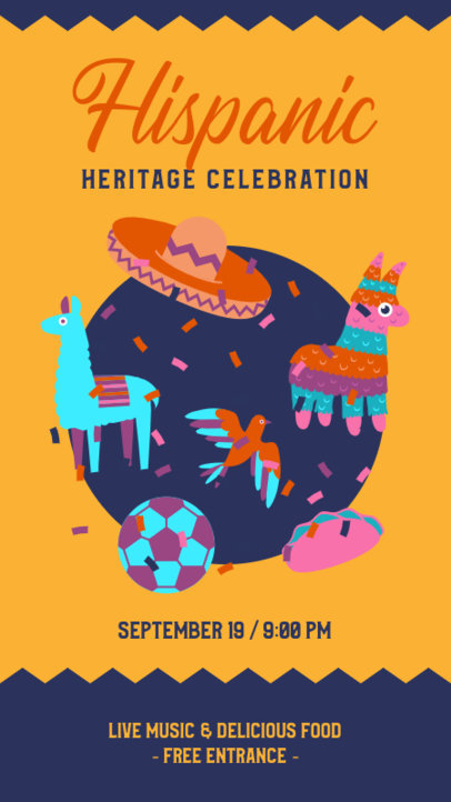 Instagram Story Maker for a Hispanic Heritage Month Celebration 3862