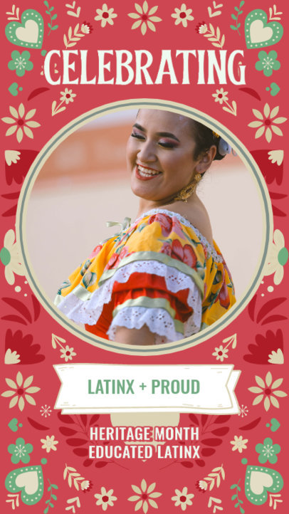 Hispanic Heritage Month-Themed Instagram Story Design Creator With Pictures and Patterns 3864f